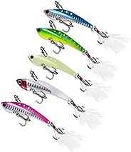 Metal Vibration, Metal Jig, Lure, Bait Lure, Major Craft, Saltwater Fishing, Distant Throw, 5 Color Set, 0.5 o