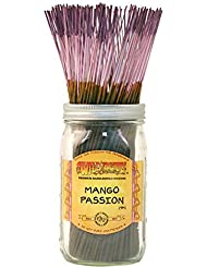 Wild Berry Mango Passion, Highly Fragranced Incense Sticksバルクパック、100ピース、11インチ