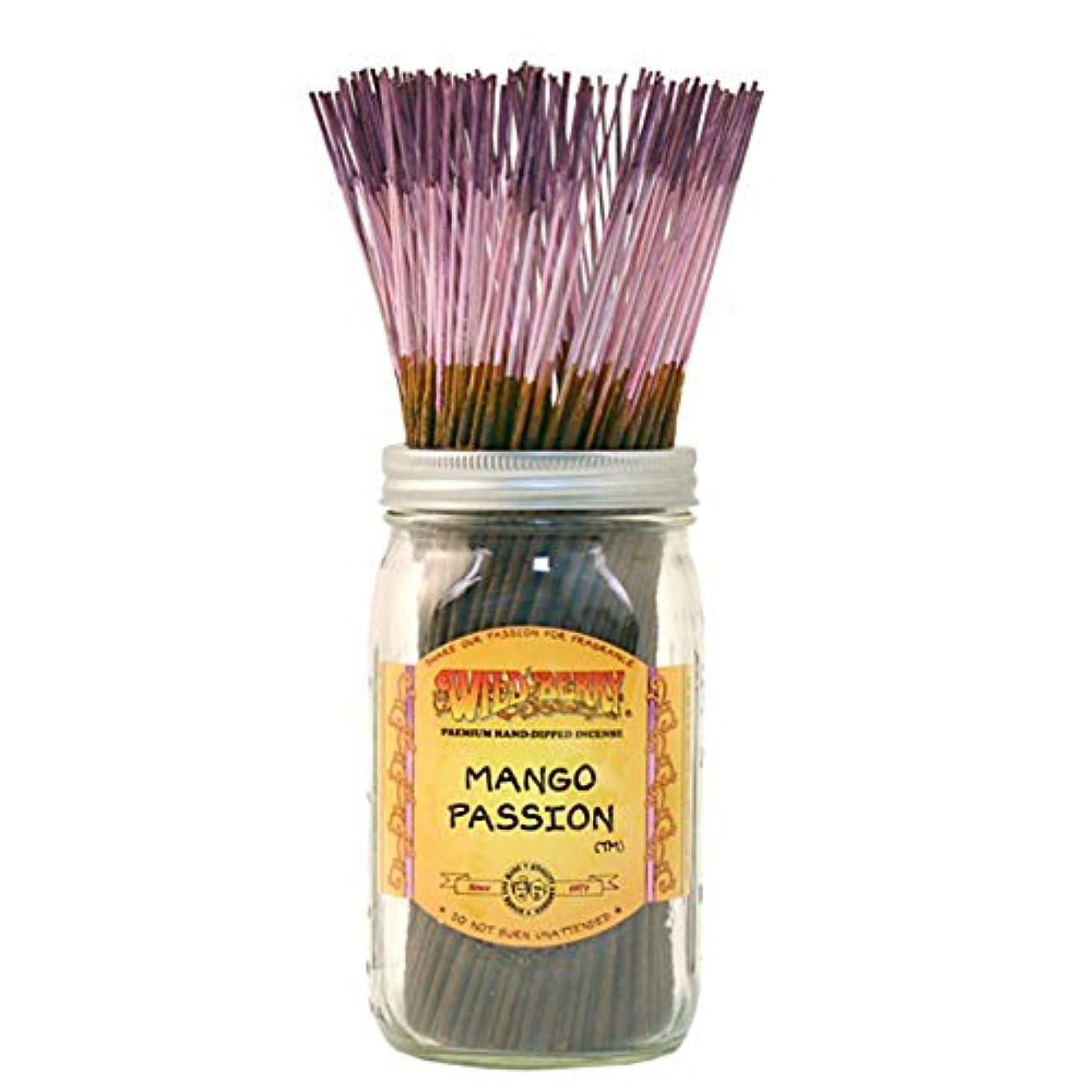 旅グリース材料Wild Berry Mango Passion, Highly Fragranced Incense Sticksバルクパック、100ピース、11インチ