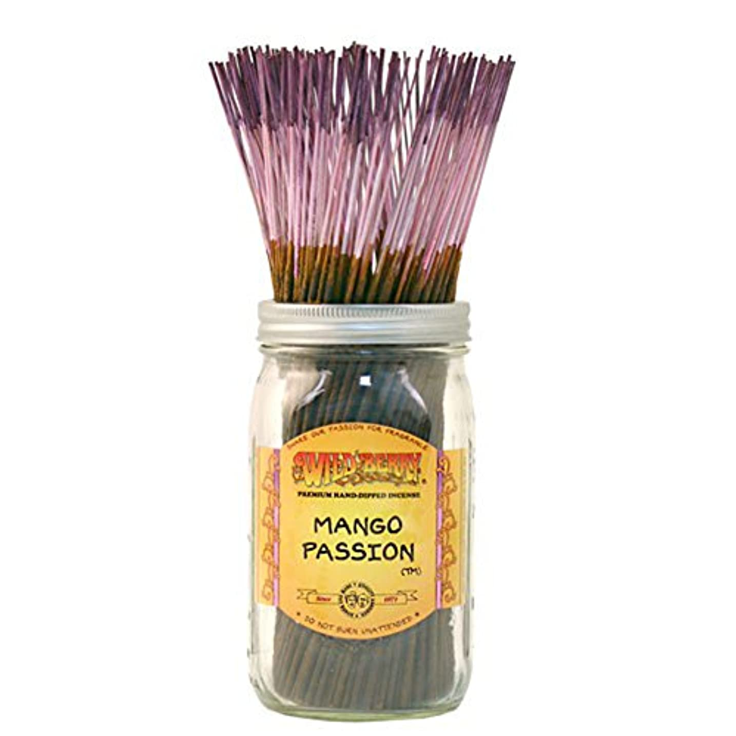 雑品吸うオートWild Berry Mango Passion, Highly Fragranced Incense Sticksバルクパック、100ピース、11インチ