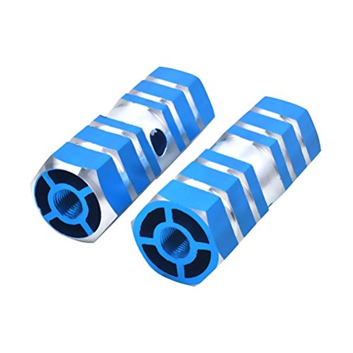 結果として望む増幅器VORCOOL 1組のアルミニウム合金バイクリアシートアクスルスタントペグ(マウンテンバイク用)(ブルー)