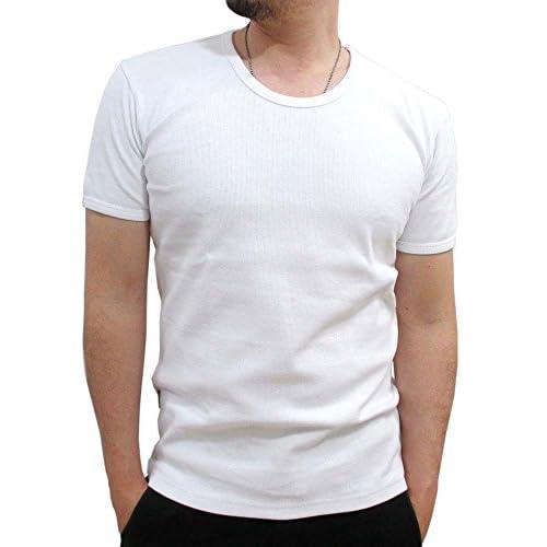(アビレックス)AVIREX ストレッチテレコ Uネック Tシャツ メンズ 半袖 M ブラック