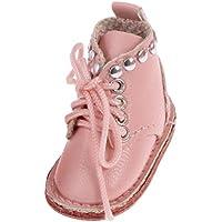 SONONIA 12インチ ブライスドール適用 かわいい おしゃれ 1/6人形 手作り マーティン ブーツ 靴 ピンク