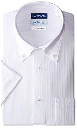 (はるやま) HARUYAMA i-shirt 完全ノーアイロン 半袖 クレリックアイシャツ M162180027 81 サックス M(首回り39cm)