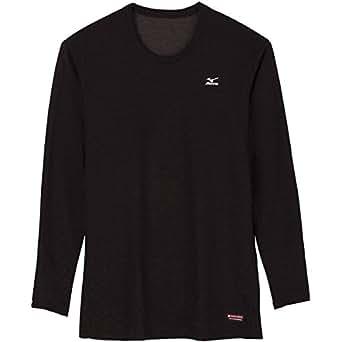 (ミズノ)MIZUNO ブレスサーモ ヘビーウエイト クルーネック長袖シャツ [メンズ] A2JA5514 09 ブラック L
