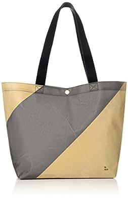 [ペーパック]トートバッグ Tote Bag(stripe) A4収納 BEG/BLK