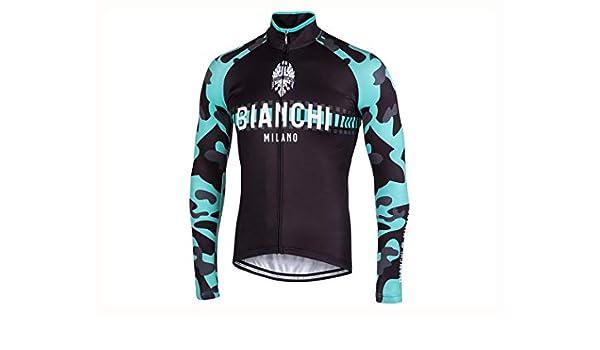Amazon.co.jp: BIANCHI(ビアンキ) MILANO(ミラノ) BRENNERO 長袖 ロングスリーブジャージ  ブラック チェレステ  L   スポーツ アウトドア f5af84276
