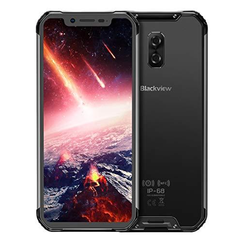 [販売前製品] Blackview BV9600 Pro スマートフォン, 6GB+128GB IP68 / IP69K耐水防塵ショックプルーフ、デュアルバックカメラ、5580mAhバッテリー、フェースID&サイドマウント指紋認証、6.21インチAndroid 8.1 Helio P60 Octa Core 2.0GHz、NFC、ワイヤレス充電、ネットワーク:4G (黒)