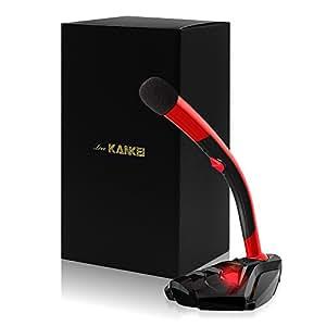 Love-KANKEI® PCマイク コンデンサーマイク USBマイクロホン 全指向性 高音質・高感度・角度調整可能・ USB接続対応 スカイプ/宅録/ゲーム/チャット/生放送 説明書&保証付き