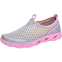 ? JPJ (TM) ? ?) ? ?レディースカジュアルシューズ、レディースクリエイティブ中空ノンスリップキャンバスメッシュ通気性アウトドア靴Creek靴 US:5 ピンク