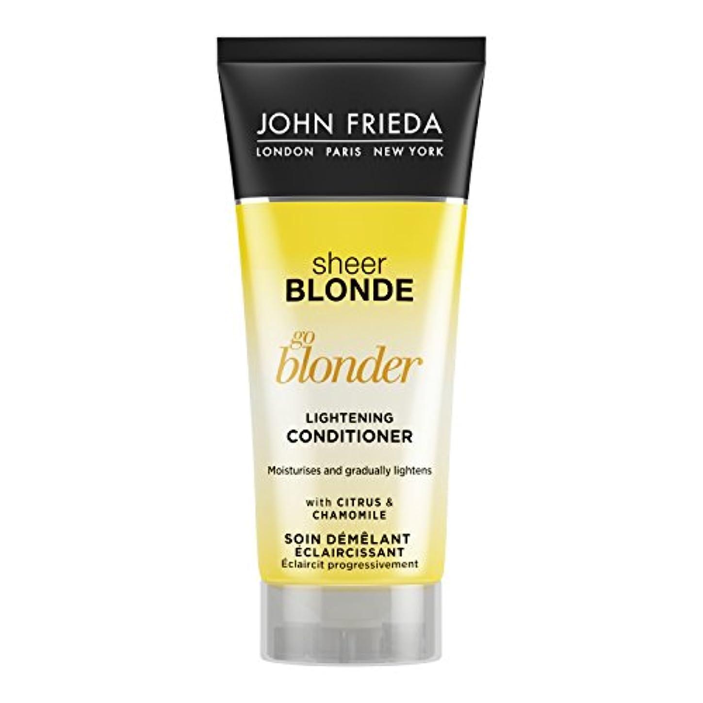 小説家地上の行動John Frieda Sheer Blonde Go Blonder Lightening Conditioner Travel Size 50ml