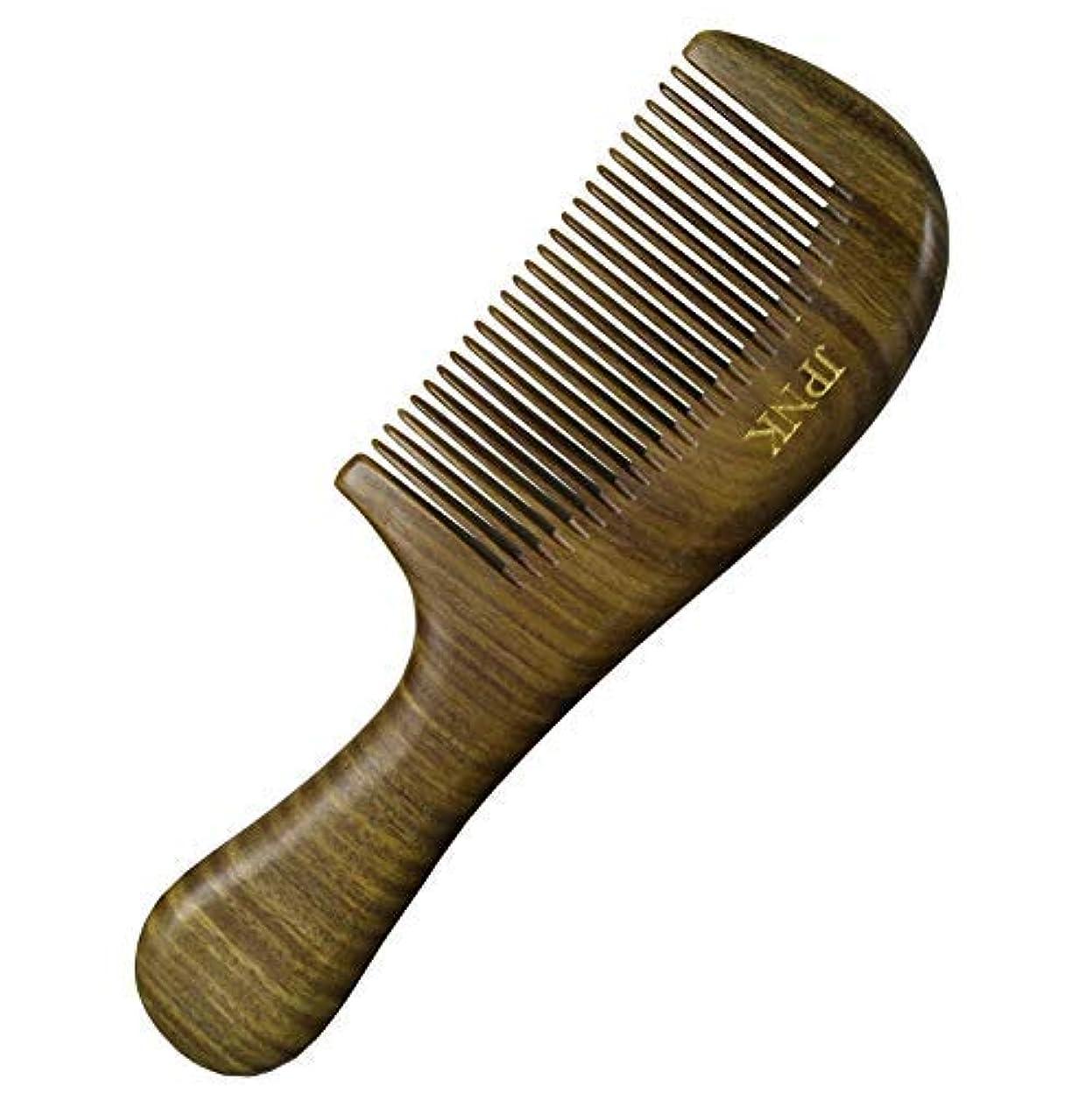寄付リーチ投資JPNK Anti-Static Sandalwood Scent Natural Hair Detangler Wooden Comb [並行輸入品]