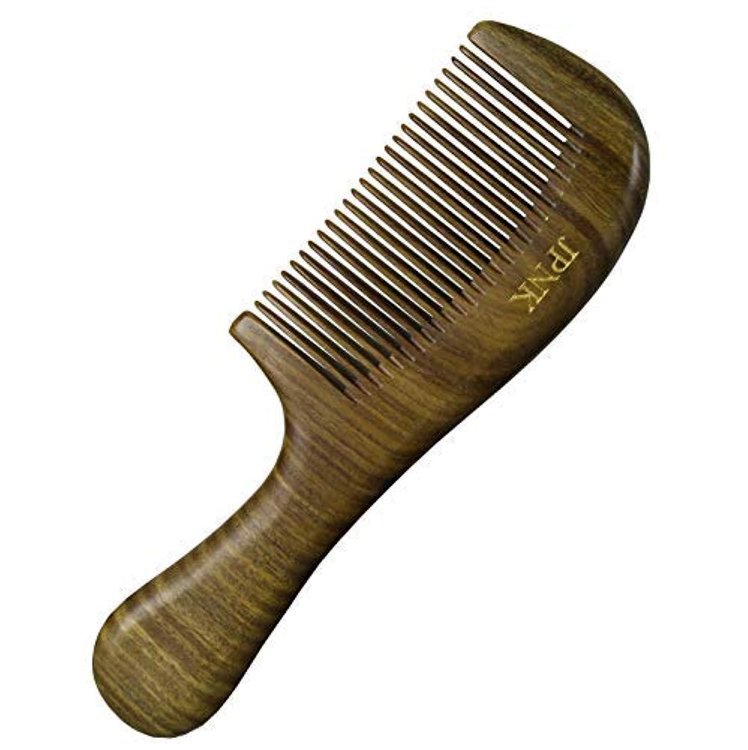 先入観ダムスペースJPNK Anti-Static Sandalwood Scent Natural Hair Detangler Wooden Comb [並行輸入品]