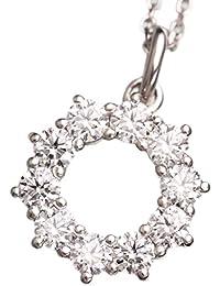 [ノダジュエリー][スイートテン] Ptダイヤモンド リースネックレス[0.35ct][ダイヤ:カラーD-F / クラリティVVS1-VS1 / カットEX-VG]