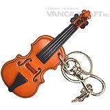 本革製 バッグチャーム バイオリン VANCA CRAFT (日本製 職人の手作り)