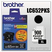 Brother–lc652pks ( lc-65) Innobella大容量インク、900page-yield、2/ Pack、ブラックlc652pks ( DMI PK
