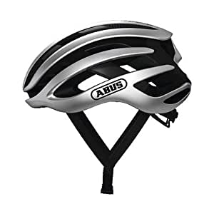 ABUS ヘルメット ロードヘルメット AIRBREAKER [エアブレーカー] JCF公認 モビスターチーム採用モデル 【日本正規品/2年間保証】 グリームシルバー Mサイズ(52~58cm)220g