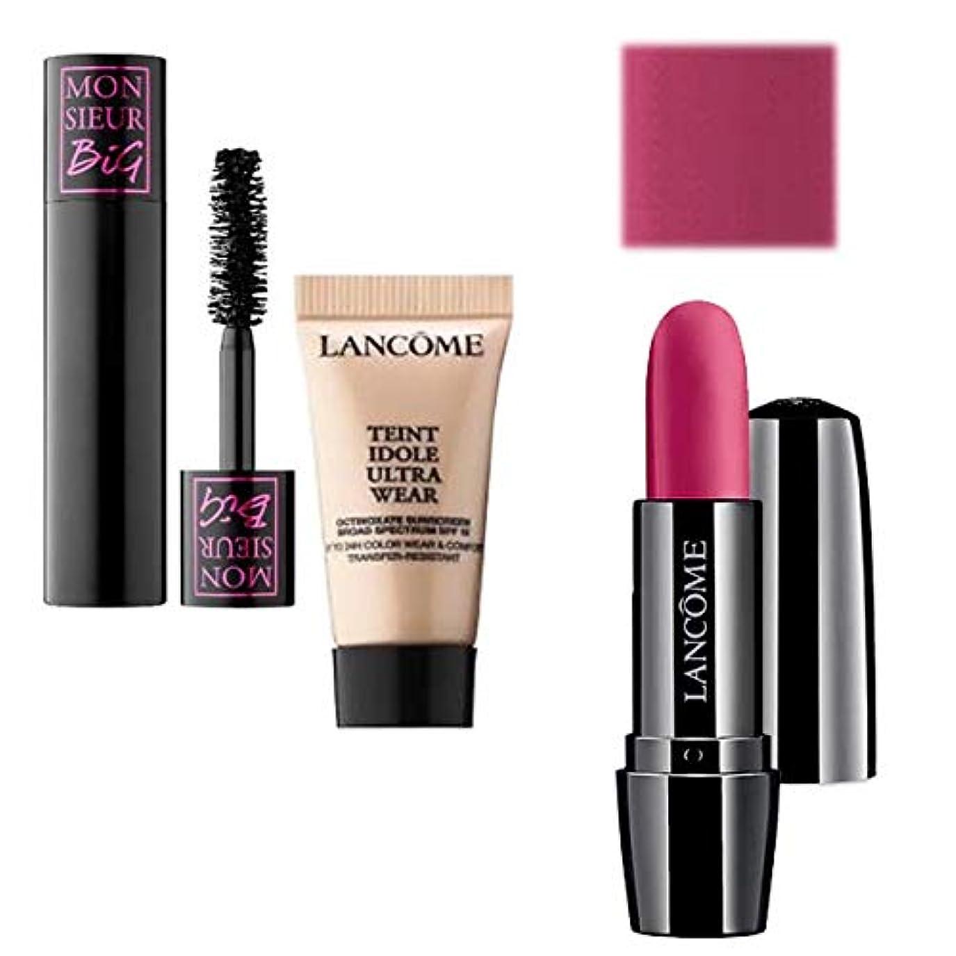 霧深いゴージャスダニランコム(LANCOME), Full Size Lipstick(Sought After) & Mini ミニ 2set (Mascara & Foundation) [海外直送品] [並行輸入品]
