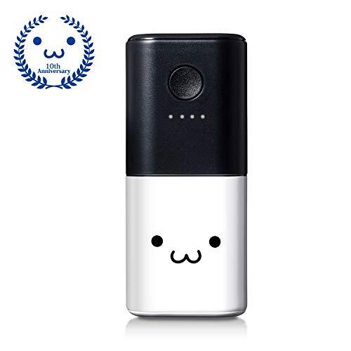 エレコム モバイルバッテリー 充電器 5000mAh 薄型 軽量 おまかせ充電対応 【PSE認証済み】   ホワイトフェイス しろちゃん EC-M03WF