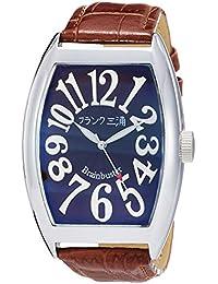 [フランク三浦]FRANKMIURA 腕時計 六号機 マグナム 革ベルト ブラウン FM06K-BRSV メンズ