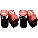 Car Tire Air Valve Caps- Auto Wheel Tyre Dust Stems Cover with Logo Emblem Waterproof Dust-Proof Universal fit for Cars, SUV,