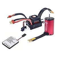サーパスKKシリーズ防水ブラシレス4076 2250KVモーター+ 150A ESC + 1/8 RCカー用プログラムカード