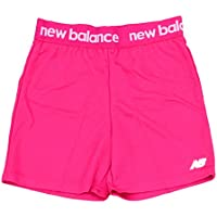 New Balance Big Girls' Athletic Shorts, All Pink, 6X