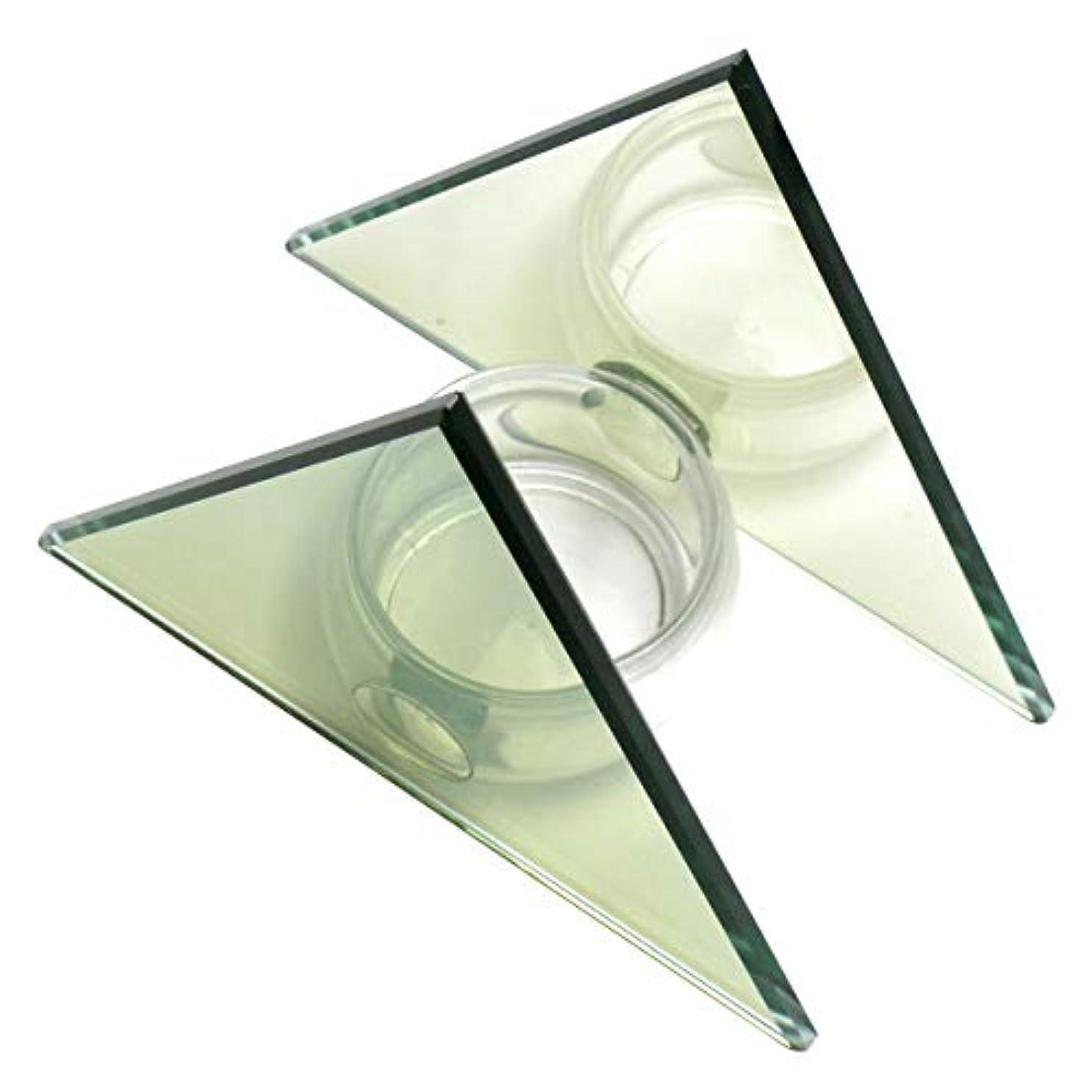 雹アマチュア閉塞無限連鎖キャンドルホルダー ピラミッド ガラス キャンドルスタンド ランタン 誕生日 ティーライトキャンドル