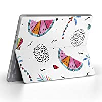 Surface go 専用スキンシール サーフェス go ノートブック ノートパソコン カバー ケース フィルム ステッカー アクセサリー 保護 ヤシの木 スイカ トロピカル 014344