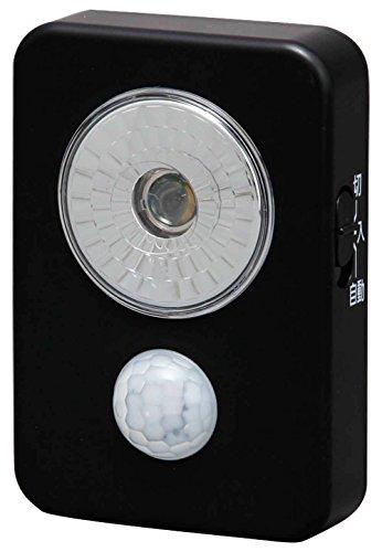 乾電池式LEDセンサーライト/ISL3HN-Bブラック