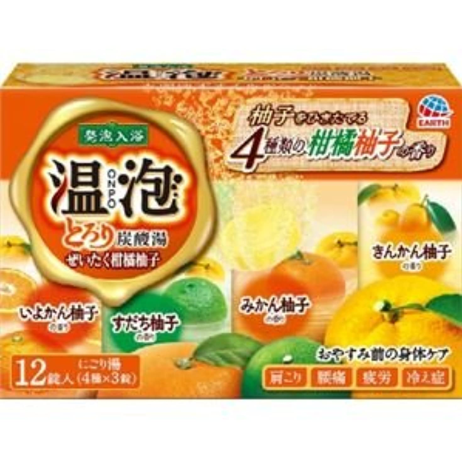 ストラトフォードオンエイボン父方の無し(まとめ)アース製薬 温泡とろり炭酸湯ぜいたく柑橘柚子12錠入 【×3点セット】