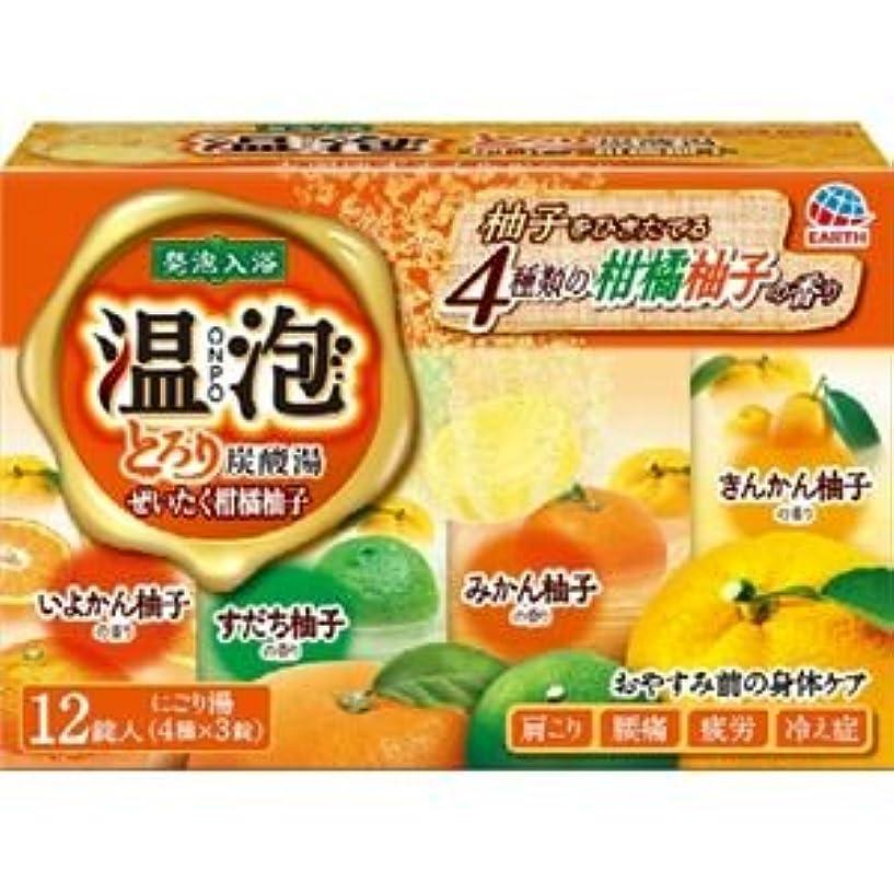 火山計り知れない引退する(まとめ)アース製薬 温泡とろり炭酸湯ぜいたく柑橘柚子12錠入 【×3点セット】