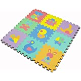 EVAパズルマット(動物)【IT】18枚セット(約1畳分)サイズ:約30×30cm(#9810155x2)