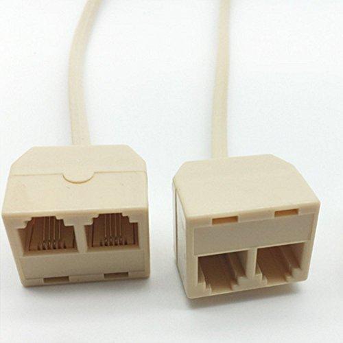 [해외]LIKEME 플라스틱 분기 어댑터 RJ11 전화 회선 분배기 6P4C 남성 플러그 전화 어댑터 연장 케이블 전화 스플리터 (1 개)/LIKEME plastic branch adapter RJ11 telephone line splitter 6P4C male plug telephone adapter extension cable phone split...