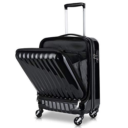 TABITORA(タビトラ)スーツケース 機内持込 トップオープン フロントオープン 人気 ビジネス 出張 レトロ キャリーケース 静音 超軽量 大容量 可愛い 旅行 出張 超軽 小型