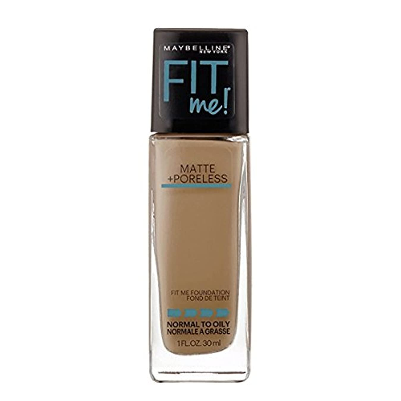 作物麺野ウサギ(6 Pack) MAYBELLINE Fit Me! Matte + Poreless Foundation - Warm Nude 128 (並行輸入品)