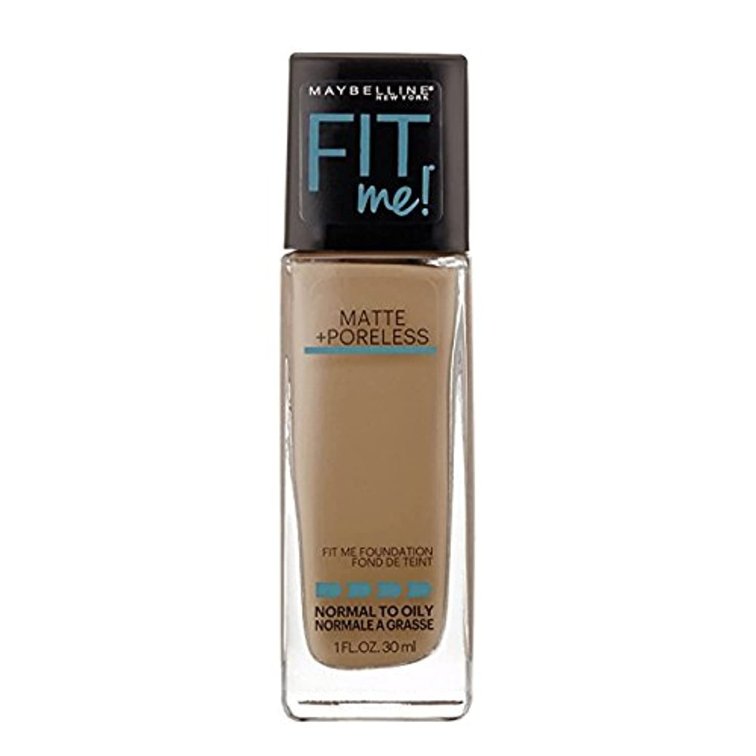 クレーター日光彫る(6 Pack) MAYBELLINE Fit Me! Matte + Poreless Foundation - Warm Nude 128 (並行輸入品)