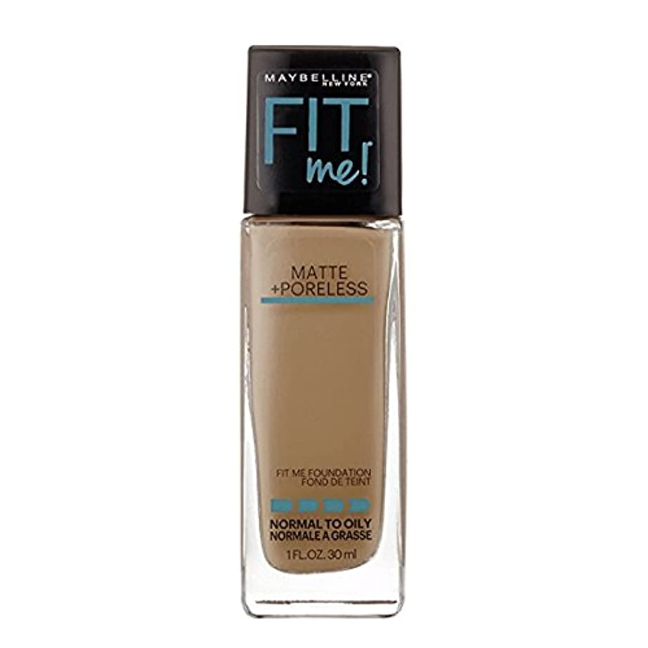 苦情文句最初仕様(3 Pack) MAYBELLINE Fit Me! Matte + Poreless Foundation - Warm Nude 128 (並行輸入品)