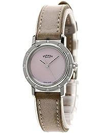 HERMES(エルメス) クリッパーナクレ 12Pダイヤモンド 腕時計 ステンレス/革 レディース (中古)