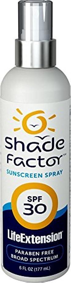 たっぷりペデスタル気分が良い(シェードファクター?サンスクリーンスプレーSPF30_177ml(LifeExtension)[ヤマト便]) Shade Factor Sunscreen Spray SPF30 Made in USA