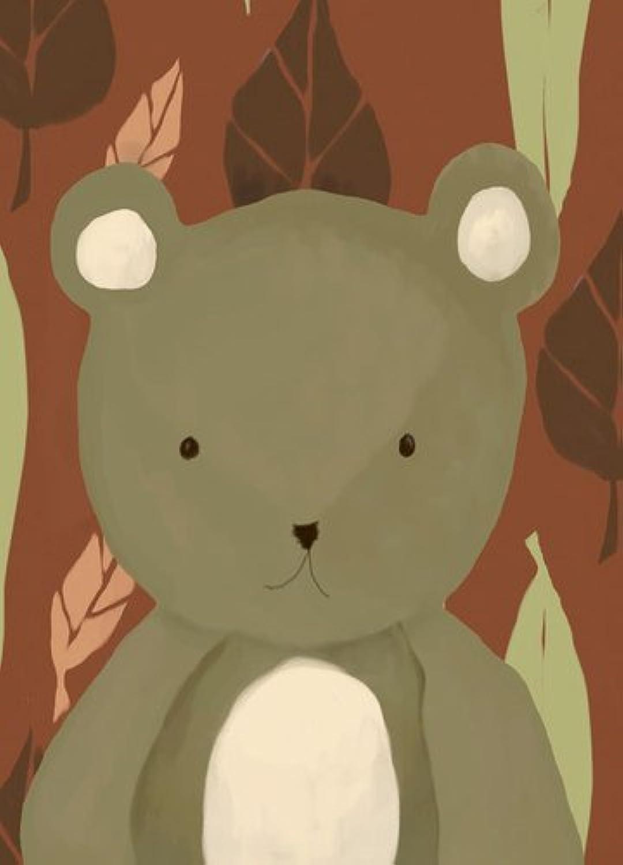 Oopsy daisy T.R. The Bear Stretched Canvas Wall Art by Meghann O'Hara, 10 by 14-Inch [並行輸入品]