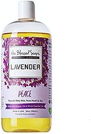 Nature's Glory Organic Castile Soap - Lavender Peace, Lavender, 946 millili