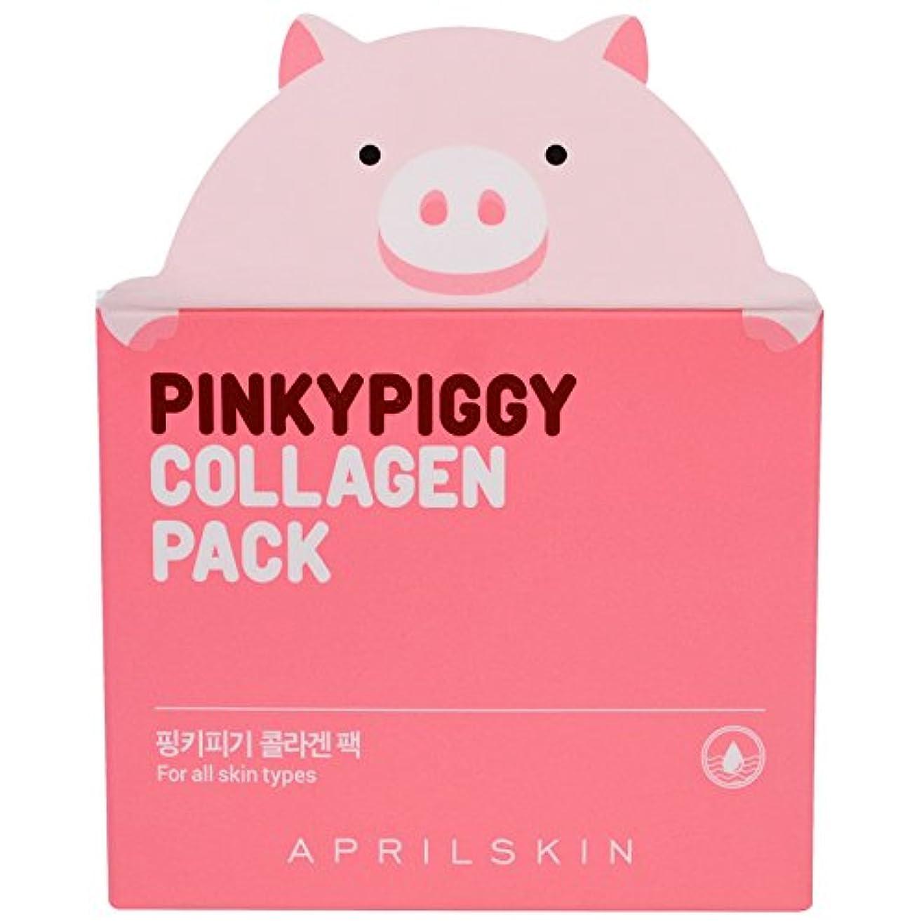 滞在教室チャンピオンAPRIL SKIN Pink Piggy Collagen Pack (並行輸入品)