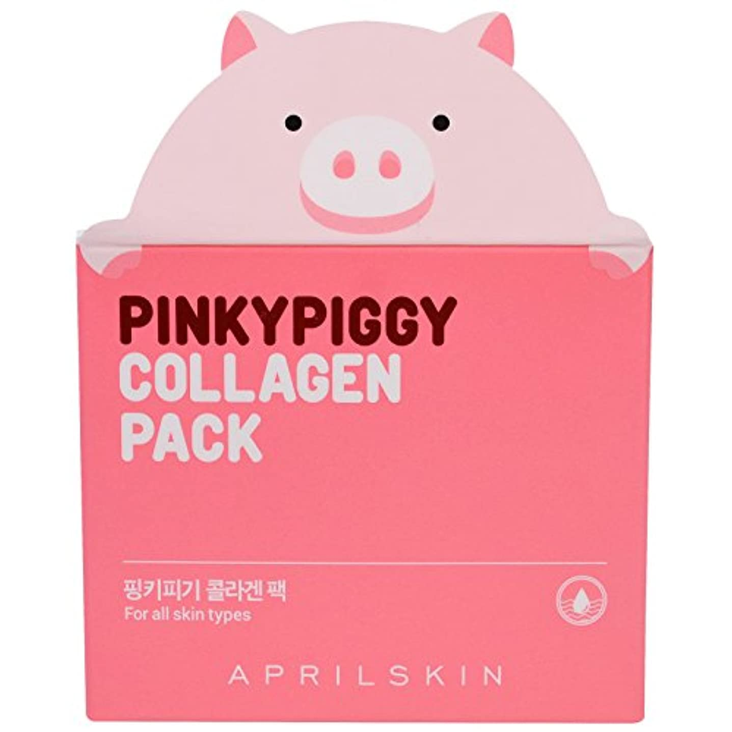 眠り読者爵APRIL SKIN Pink Piggy Collagen Pack (並行輸入品)