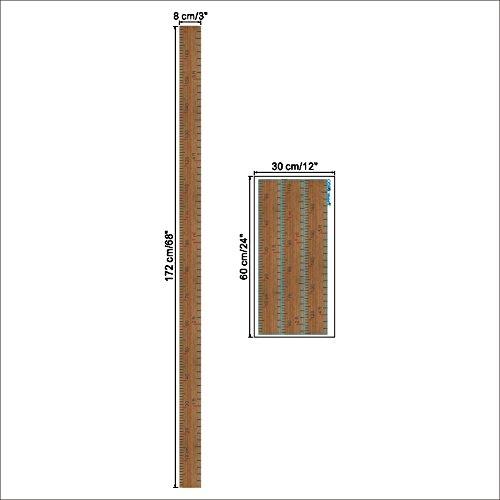 Happyハッピー耳 ウォールステッカー 身長計 子供の成長記録 シンプル ブラウン 測定範囲:0~172cm (ブラウン身長計)