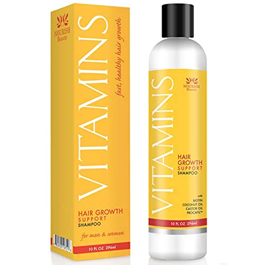Vitamins Hair Loss Shampoo - 121% Regrowth and 47% Less Thinning - With DHT Blockers and Biotin for Hair Growth...