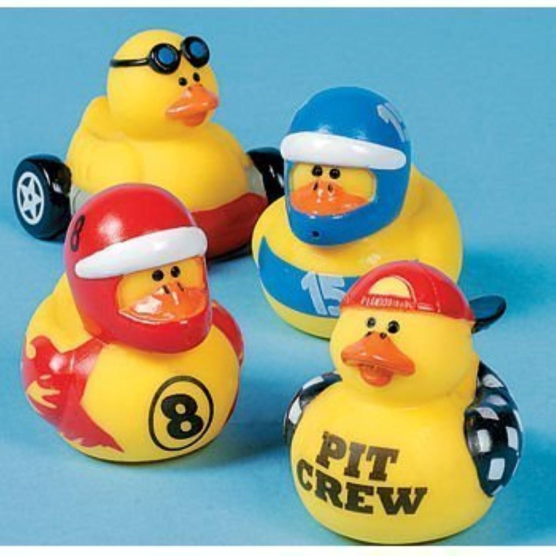 One Dozen (12) Race Car Driver Rubber Duckys [並行輸入品]