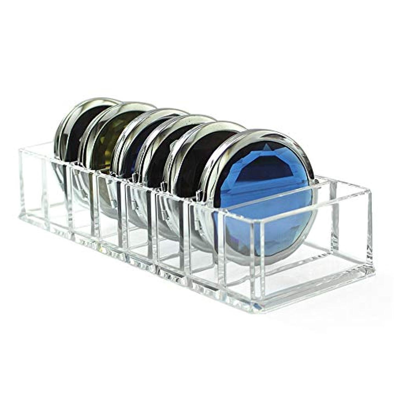 均等にのぞき穴塩整理簡単 化粧品アイシャドウフェイスパウダー用シンプルアクリルクリアメイクオーガナイザーホルダー収納ケースボックス (Color : Clear, Size : 25.5*8.8*4.7cm)