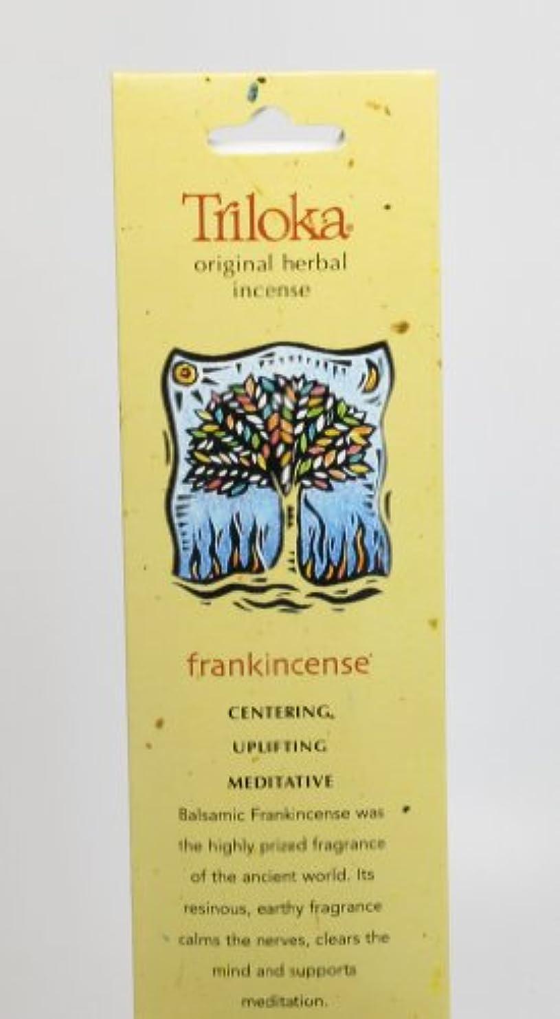 日曜日ボリューム反発Triloka - 元の草の香のFrankincense - 10棒