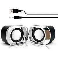 ROUNDS PCスピーカー USB電源 日本人による企画・対応 小型 コンパクト ミニ 軽量 持ち運び便利 イヤホンジャック 6W高音質 テレビ MP3 タブレット スマホ対応